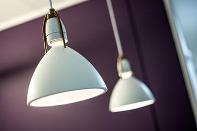 Moderne lamper i tandklinikken